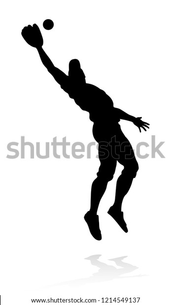 238943cd Baseball Player Sports Pose Detailed Silhouette Stock Vector ...