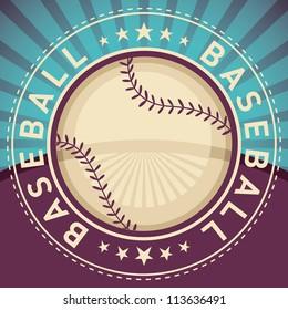 Baseball poster. Vector illustration.