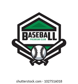 Baseball premium club logo template, design element for, badge, banner, emblem, label, insignia vector Illustration on a white background