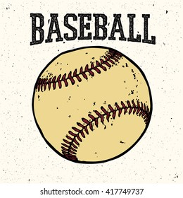 Baseball retro style logo.