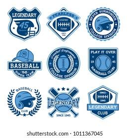 Baseball And Rugby Logo Design
