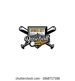 Baseball Softball Team Club Academy Championship Logo Template Vector