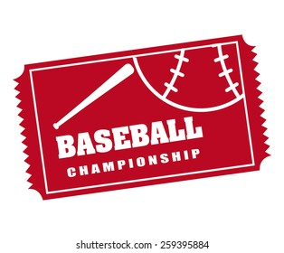baseball sport design, vector illustration eps10 graphic