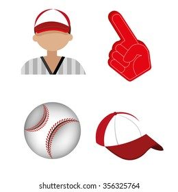 Baseball sport game graphic design, vector illustration eps10