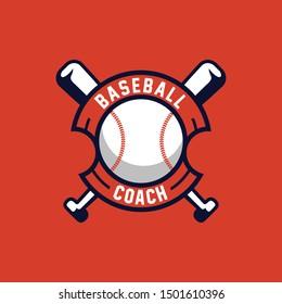 Baseball Sport logo emblem. BaseBall logo