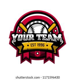 BaseBall Sport Logo.  BaseBall Sport Team. BaseBall Logo. Badge Logo. Sport Logo. Abstract Vector Illustration Eps.10