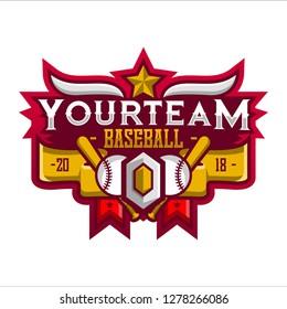 Baseball Sport Logo. Baseball Sport Team. Baseball Logo. Badge Logo. Sport Logo Team. Vector. Abstract Vector Illustration Eps.10