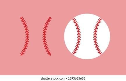 野球と野球のステッチベクター画像とクリップアート