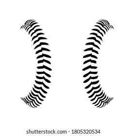 Baseball Stitches, Baseball lace ball illustration Vector