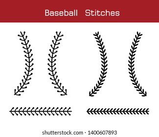 Baseball  Stitches  on a white background , vector design