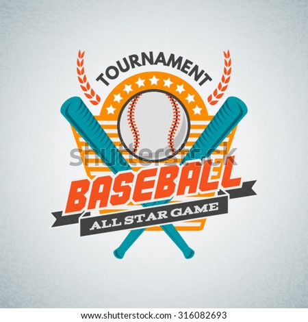 Baseball Tournament Professional Label Logo Badge Business Sign Template Icon Identity