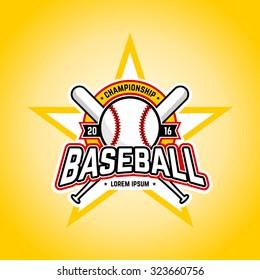 Baseball tournament professional logo. Vector design template.