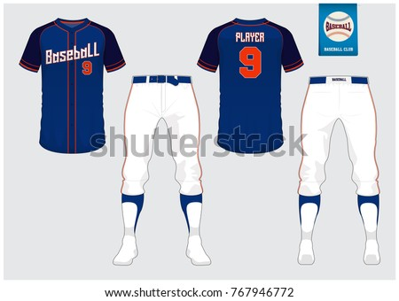 ceff3d932 Baseball Uniform Sport Jersey Tshirt Sport Stock Vector (Royalty ...