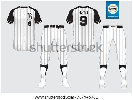 baseball uniform sport jersey tshirt sport のベクター画像素材