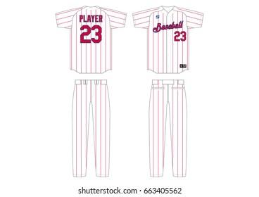 Baseball Uniform // striped
