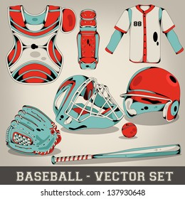 Baseball Vector Set
