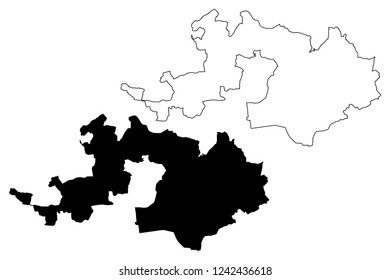 Basel-Landschaft (Cantons of Switzerland, Swiss cantons, Swiss Confederation) map vector illustration, scribble sketch Canton of Basel-Country map