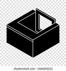 Basement window frame icon. Simple illustration of basement window frame vector icon for web