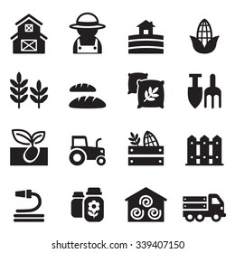 Basic Agriculture and Farming icons set