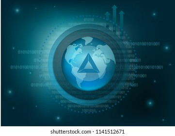 Basic Attention Token Cryptocurrency Coin Global Binary Background
