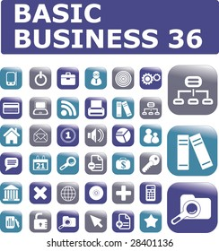 basic business 36 - vector set # 14