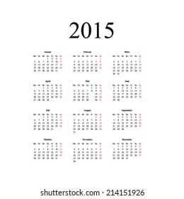 2018 russian calendar simple organizer on stock vector royalty free