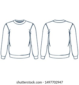Basic crewneck vector . eps .