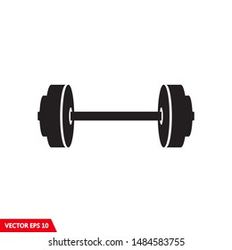 Basic design of barbell icon vector