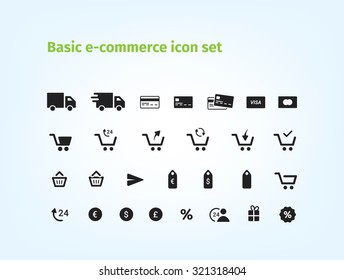 Basic e-commerce icon set! The best icons for your e-shop.