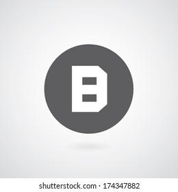 basic font for letter B