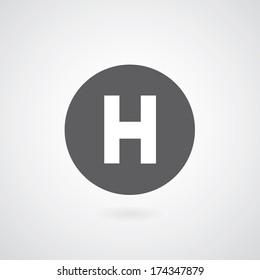 basic font for letter H