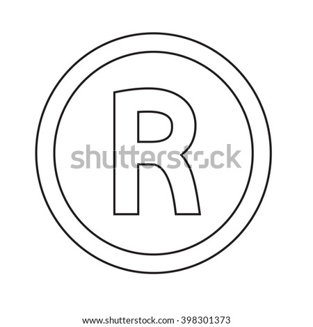 0ce5fb10 Basic Font Letter R Icon Illustration Stock Vector (Royalty Free ...
