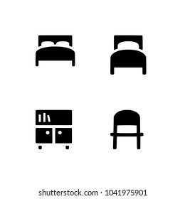 Basic Furniture icon set in thin line style. Set icon EPS 10 vector format. Professional pixel perfect black & white icons optimized for both large and small resolutions. Transparent background.
