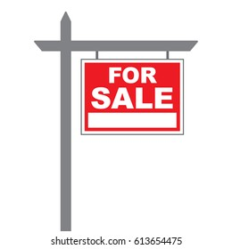 Basic house for sale sign in vector format.