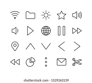 Basic icon line style for mobile, desktop and other