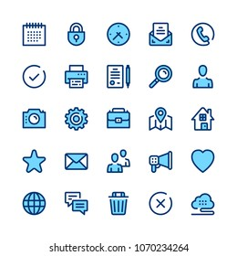 Basic line icons set. Modern graphic design concepts, simple symbols, elements, pictograms collection. Minimal thin line design. Premium quality. Pixel perfect. Vector outline icons
