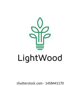The basic of the logo is a tree incorporate with bulb it's good for idea concept.modern simple light wood logo design
