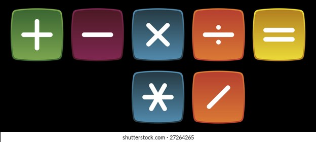 Basic Mathematical Operations Signals (Addition, Subtraction, Multiplication, Division, Total)