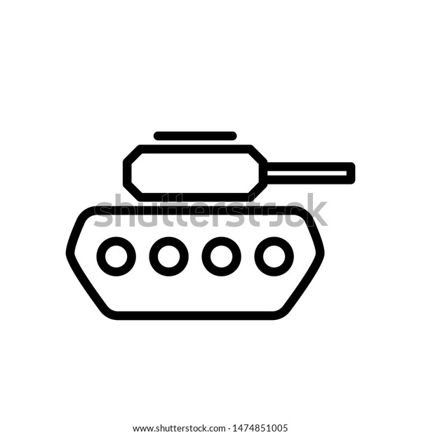basic outline tank icon suitable mobile stock vector royalty free 1474851005 https www shutterstock com image vector basic outline tank icon suitable mobile 1474851005