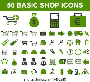 Basic Shop Icons