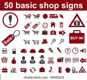 Basic Shop Signs
