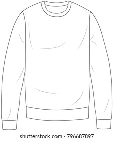 basic sweatshirt vector