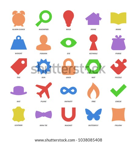 Basic Symbol Shapes Set Color Icon Stock Vector Royalty Free