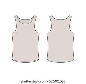 Vest top vector template stock vector royalty free 770099143 basic tank top template maxwellsz