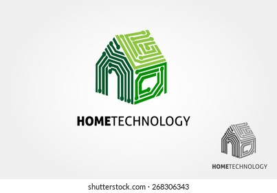Basic of this logo is house and circuit, this logo try to symbolize a modern home technology.