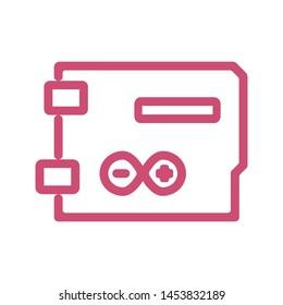Basic vector arduino icon .