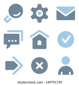 Basic web icons, blue solid series