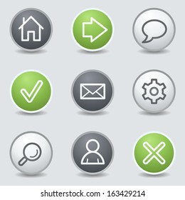 Basic web icons, circle buttons