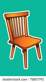 Basic Wood Chair Illustration