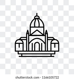 Basilica of the sac heart vector icon isolated on transparent background, Basilica of the sac heart logo concept